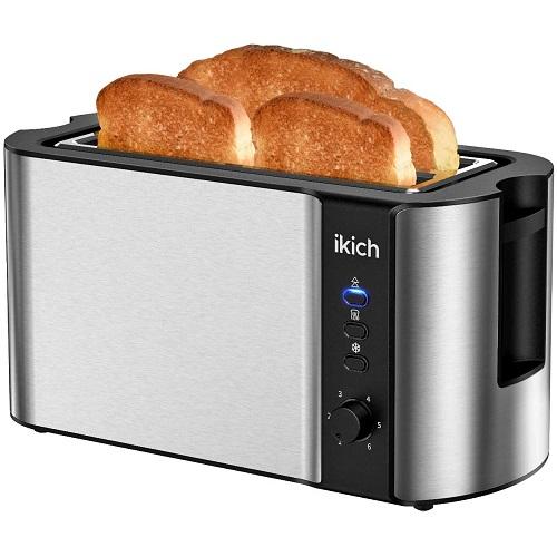 Ikich 4 Long Slice Toaster